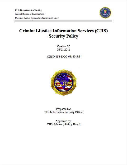 Criminal Justice Information Services Security Policy | The IT Law ...