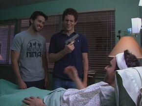 1x5 Mac Dennis Charlie in hospital