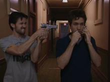 1x5 Mac aims at Dennis