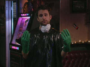 1x6 Charlie in cleaning gear