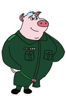 Chanon saiwilai version funny cartoon pig