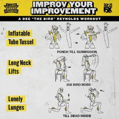 Dee's workout instructions.