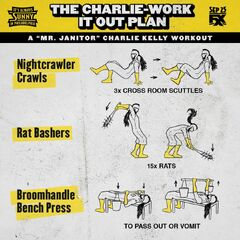 Charlie's workout instructions.