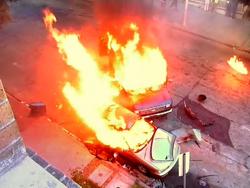 Frank's van destroyed