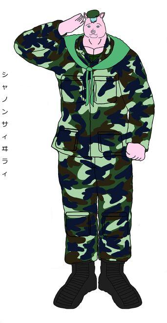 Chanon saiwilai シャノン サィヰラィ ชานนท์ สายวิลัย soldier pig military