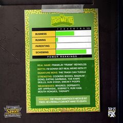 Back image of Frank's trading card.
