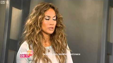 Jennifer Lopez on Lorraine UK TV Show 4 9 12
