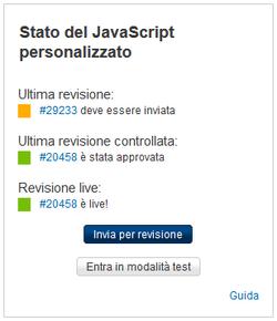 Modulo di revisione del JS