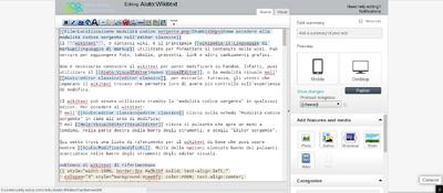 Localizzazione modalità codice sorgente