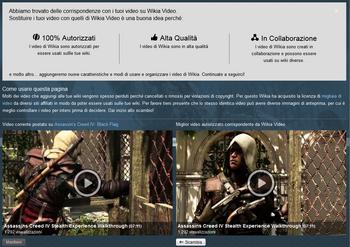 Pagina Scambio Video Autorizzati