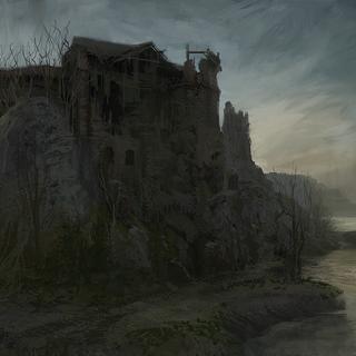 Antico Castello di notte - concept art