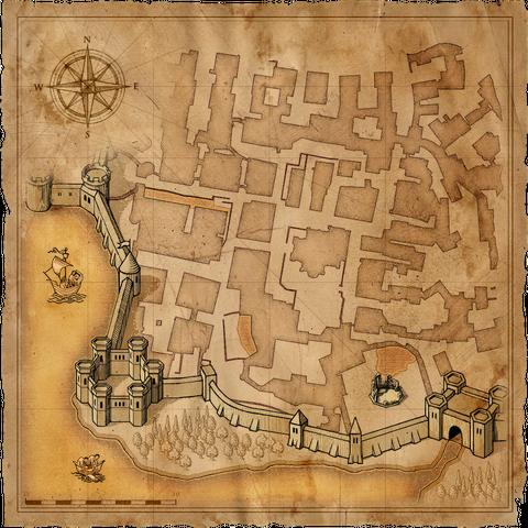 Mappa del Quartiere del Tempio di Vizima