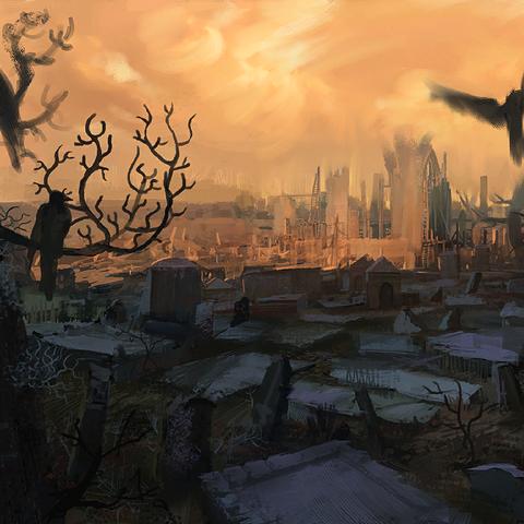 Il Cimitero di Vizima di giorno - concept art