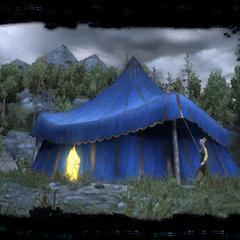 L'esterno della tenda in