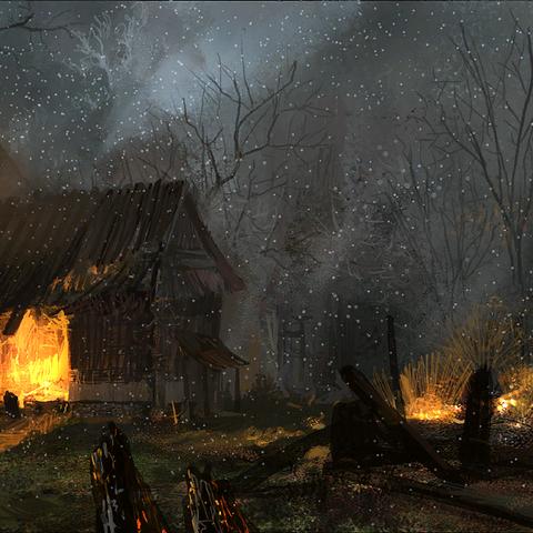 Vizima Antica di notte - concept art