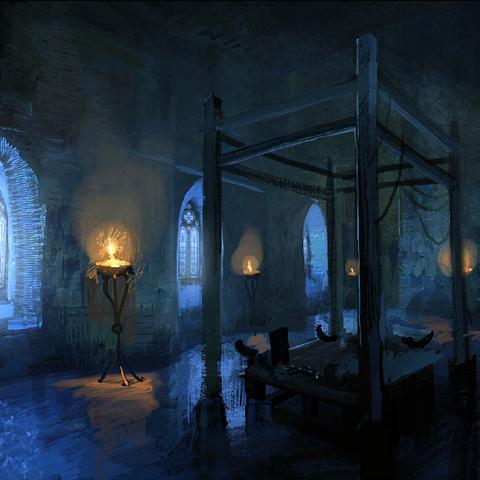 Ospedale S. Lebioda di notte - concept art