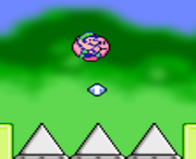Kirby Jumping Into Spikes