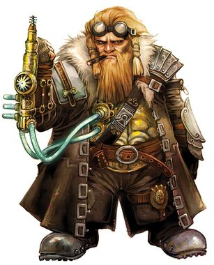675x836 10097 Tech Dwarf 2d fantasy dwarf portrait steampunk tech picture image digital art