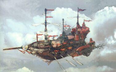 Airship FFIII DS Yoshida Artwork