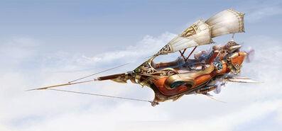 Fantasy airship by yuchenghong-d5yj5xy