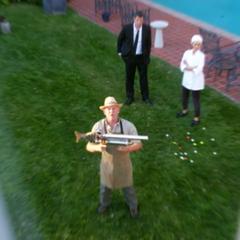 The Golf Ball Gun seen in a vision of Sandy Brinks.