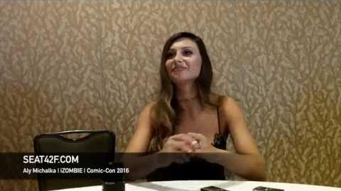 Aly Michalka iZOMBIE Interview Comic Con 2016