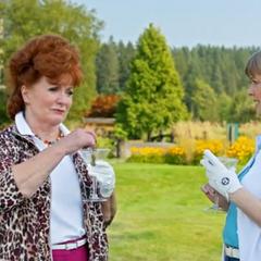 Sandy Brinks with her friend, Maxine Lippman.