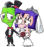 Zim and gaz s wedded bliss by nintendomaximus-d6rl4d1