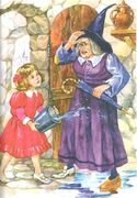 Элли и Бастинда, рис. Е. Лопатиной