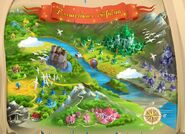 Карта Волшебной страны. Скриншот из игры