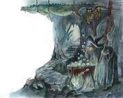 Пищера Гингемы. Иллюстрация Анны Власовой