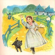 Illustration from the Ladybird books. Dorothy and Toto