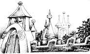 Изумрудный город. Иллюстрация Михаила Мисуно