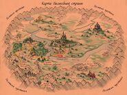 Карта Волшебной страны Александра Волкова.