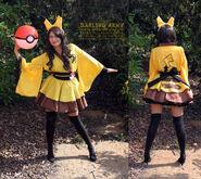 Pikachu cosplay wa lolita kimono dress by darlingarmy-d7b68tu