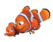 Nemo and Marlin in Finding Dory