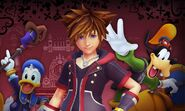 Sora, Donald and Goofy Kingdom Hearts III