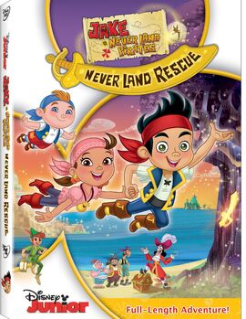 Jake and the Never Land Pirates Never Land Rescue DVD cover