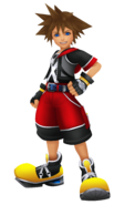 Sora in Kingdom Hearts 3D Dream Drop Distance