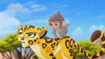 Fuli and baby baboon