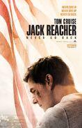 Jack Reacher Never Go Back poster