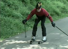 Land skiing