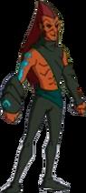 Finn as a Dark Chi Warrior