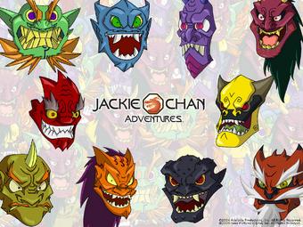 Oni Masks Jackie Chan Adventures Wiki Fandom