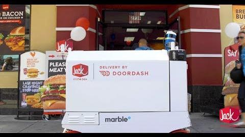 Jack in the Box Robot Delivery