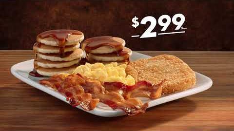 """Comercial de Jack in the Box—Jumbo Breakfast Platter por $2.99 —""""Piggy Bank"""""""