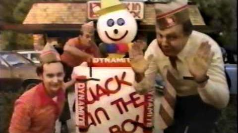 "Jack in the Box ""Jack Explodes"" commercial from 1980"