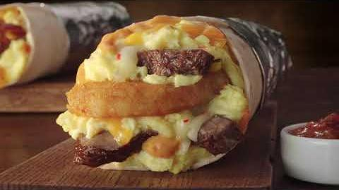 Jack in the Box Commercial - Steak&Egg Burrito Beefin' Up Food Focused GM15