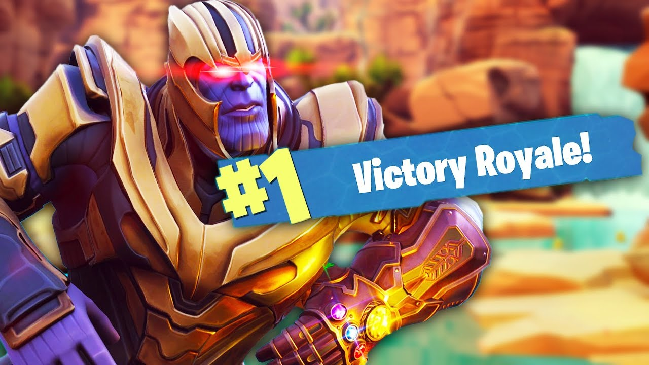 owning thanos in fortnite - thanos fortnite thumbnail