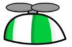 GreenPropellerHat